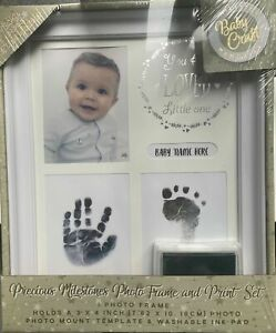 Perfect Gift Baby Craft Memories Photo Frame Hand & Feet Print Set / NEW  Sealed