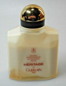 VINTAGE: 100 ml Flakon GUERLAIN After Shave Balm HERITAGE; Restinhalt