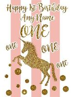 Personalised Unicorn Birthday Card 1st 2nd 3rd 4th 5th 6th 7th 8th 9th.....