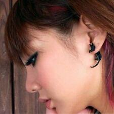 3d Ohrstecker Katze Ohrringe Cat Ohrschmuck Earring schwarz