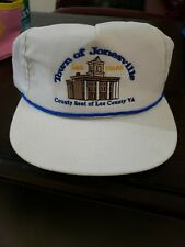town of Jonesville Lee County Virginia Hat white snapback
