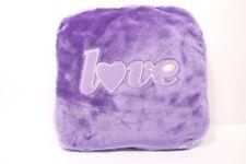Fodera per cuscino con cerniera Gioseppo in peluche lilla con scritta Love