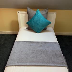 Handmade Elite Chenille Bed Runner Throw Shimmer Home Decor Sofa Cover Blanket