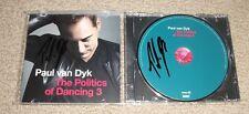 PAUL VAN DYK SIGNED AUTOGRAPHED THE POLITICS OF DANCING 3 CD! TRANCE GOD! EDM