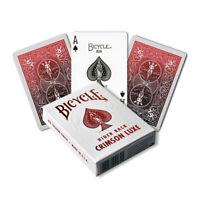 Bicycle METALLUXE CRIMSON Spielkarten, Kartenspiel mit Tollem Motiv  NEU & OVP!!