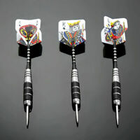 3x Steel Tip Darts Set Stainless Barrel w/ Aluminium Poker Shaft Dart T Gif A2K4