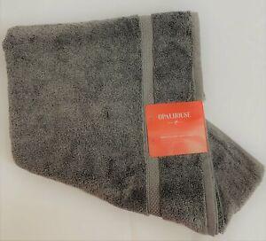 """OPALHOUSE Bath Towel & Washcloth NWT """"Perfectly Soft"""" Pigeon Gray"""