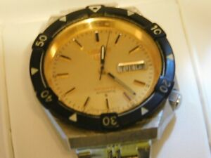 Seiko 6309 836B Black Bezel Yellow dial Automatic GentsWatch, rare collectable.