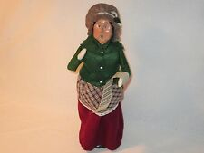 Byers Choice 1996 Exquisite Woman in Cranberry Skirt Carrying Sheet Music