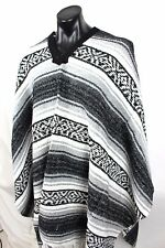 Mexican Western Poncho Grey Falsa Blanket Costume Party Supplies New and Genuine