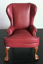 "4"" Leather Chair Sofa for 6"" 7"" Action Figures Dollhouse Model Miniature Red"