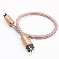 HI End Schuko Power Cord CD amplifier amp EU Power Plug Cable HIFI AC Mains