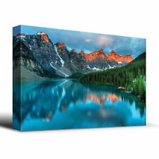Wall26 - Tranquil mountain lake - Canvas Art Home Decor - 16x24 inches
