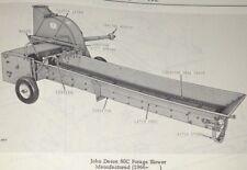 John Deere 60C Forage Blower Parts Catalog Manual Book Original! Jd (June 1967)