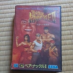 Bare Knuckle 2 Mega Drive Japanese Manual Streets of Rage II Genesis Import NTSC
