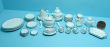 Dollhouse Miniature 40 Pc White Dinnerware Set with Serving Dishes Plates RBD14