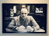 Marlon Brando The Godfather Movie Poster Print On Texture Media And Framed