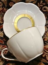 Royal Limoges Nymphea Fleur'T Matte Gold Cup and Saucer