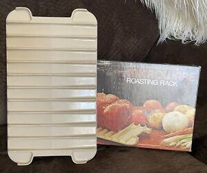 Vintage Anchor Hocking Microwave Bacon Meat Pan Roasting RackPan In Box