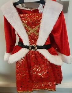 Children's Mrs Christmas with Hat Fancy Dress Costume Christmas Aged 9-12 Months