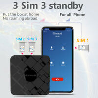 3 SIM Standby (DUAL SIM, TRIPLE SIM) online adapter for iPhone, no need to carry