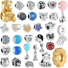 New Fashion 925 sterling gold silver charms bead for bracelet necklace chain