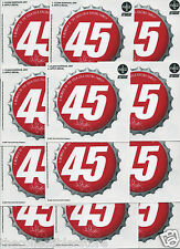 KYLE PETTY NASCAR SIGNATURE COCA COLA COKE BOTTLE CAP DECAL STICKER LOT OF 12