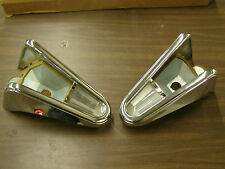 NOS OEM Ford 1958 Mercury Tail Light Lamp Bezels Assemblies Lenses Trim