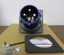 Hubbel Hbl4100B9W Pin & Sleeve Watertight Inlet Iec 309 New Factory Box