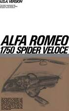 Alfa Romeo 1970 - USA Version Alfa Romeo 1750 Spider Veloce (Supplement)