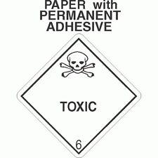 L-331 Toxic Class 6.1 Paper Labels D.O.T. 4X4 (ROLL OF 500)