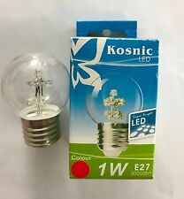KOSNIC LED 1W ES STARTREE LED GOLFBALL BULB IN RED COLOUR