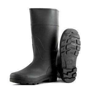 Black Rubber Wellingtons Mucker Mens Ladies Boys Wellies Snow Boots Shoes School