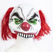 Halloween Half Head Killer Clown Latex Mask Costume Fancy Dress Evil Zombie