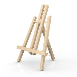 Tischstaffelei aus Buchenholz Klappbarer Bildhalter Foto-Ständer Dreibeinig