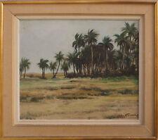 Tableau Orientaliste signé Gaston Fontaine (1907-1999) Oued - Senegal ?