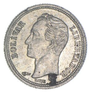 Better Date - 1960 Venezuela 25 Centimos - SILVER *769