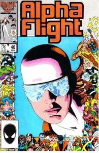 ALPHA FLIGHT #40 NM Marvel Comics (1983 Series) Sub-Mariner/Avengers