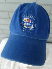 Kansas Jayhawks Kind of Beat Up Pro Player Strap Back Baseball Cap Hat One Size
