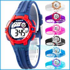 Kleine digitale  Multifunktiona XONIX Armbanduhr für Damen und Kinder WR100m
