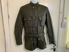 MODERN CLASSIC BELSTAFF TRIALMASTER WAXED COTTON MOTORCYCLE JACKET SIZE 46