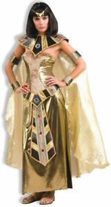 Egyptian Goddess Cleopatra Queen Fancy Dress Up Halloween Adult Costume