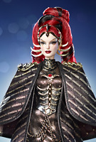 Space Goddess Queen Constellations Barbie Doll & Golden Metallic Dress & Crown