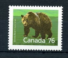 Weeda Canada 1178c VF MNH 76c Grizzly on SP, perf 13.1 CV $50