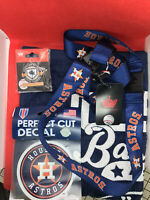 Houston Astros 4 pcs Souvenirs Set-Lanyard+Towel+Decal+Pin.New with tag.Free S/H