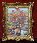 Merveilleux Peintures Photo Baroque Antique Repro Cadre Fleurs De Pavot 56x46 cm
