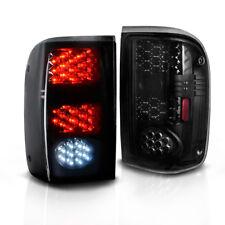 for 1993-2000 Ford Ranger LED Tail Light Black Smoke Brake Rear Lamps Left+Right