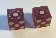Frontier Hotel Casino Used Dice - Elvis 1956 Related / Las Vegas