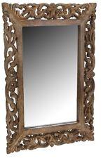 Wooden Frame Dark Wood Carved Leaf Design 50cm x 70cm Classic Italian Design