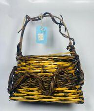 Square Gathering Large Easter Wooven Wooden Basket